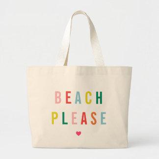 Tevreden Grappig strand Grote Draagtas