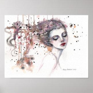 Tevreden Vrouw 12 x 16 van de Kunst van de Poster