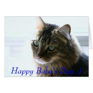 tevredenheid, de Dag van de Gelukkige Baba:) Wenskaart