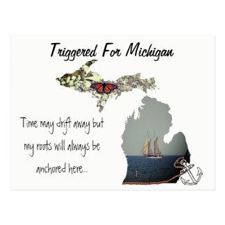 Teweeggebracht voor het Briefkaart van Michigan