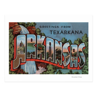 Texarkana, Arkansas (de Scène van de Waterval) Briefkaart