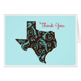 Texas dankt u kaart