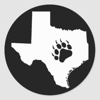 Texas draagt Poot Ronde Sticker