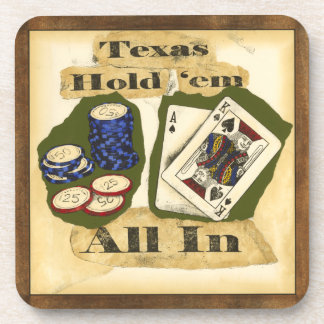 Texas houdt hen Hand met Koning en Aas Bier Onderzetters