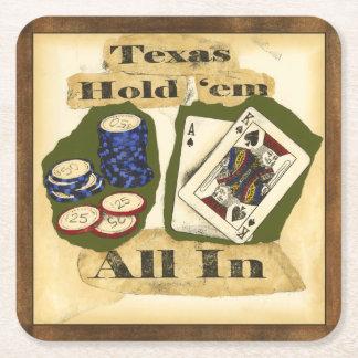 Texas houdt hen Hand met Koning en Aas Vierkante Onderzetter
