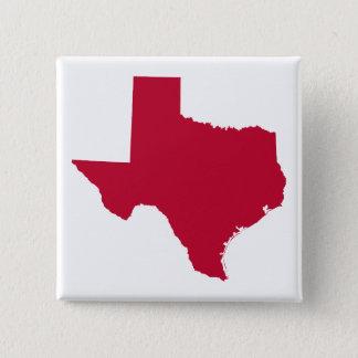 Texas in Rood Vierkante Button 5,1 Cm