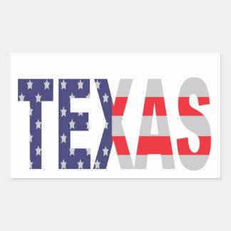 Texas Rechthoekige Sticker