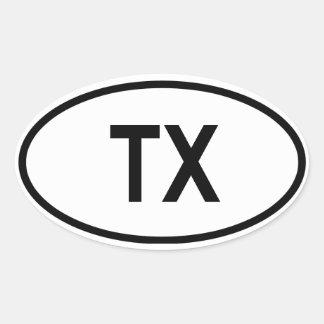 "Texas ""TX "" Ovale Sticker"