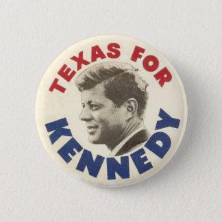 Texas voor Kennedy zwarte humorknoop Ronde Button 5,7 Cm