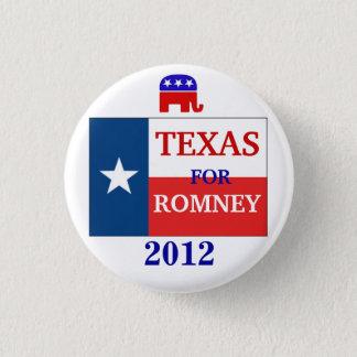Texas voor Romney 2012 Ronde Button 3,2 Cm