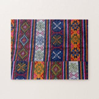 Textiel uit Bhutan Puzzel