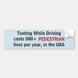 Texting terwijl het Drijven van kosten 500 Bumpersticker