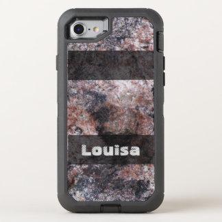 Textuur van de Rots van de Geologie van de natuur OtterBox Defender iPhone 8/7 Hoesje