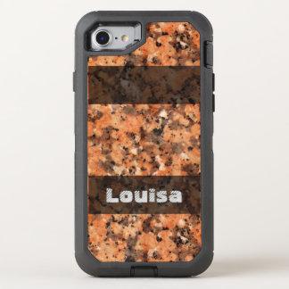 Textuur van de Rots van de natuur de de Geologie OtterBox Defender iPhone 8/7 Hoesje