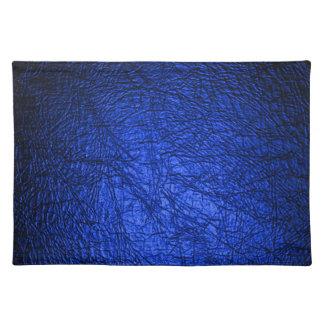 Textuur van het Leer van Faux de Blauwe Placemat