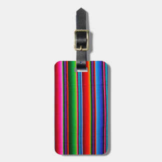 Textuur van Mexicaanse Stof Kofferlabels