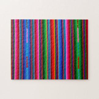 Textuur van Mexicaanse Stof Puzzel