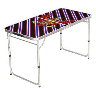 Thaise strepenvlag beer pong tafel