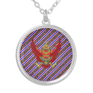 Thaise strepenvlag zilver vergulden ketting