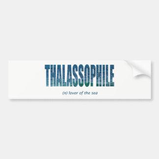 Thalassophile Bumpersticker