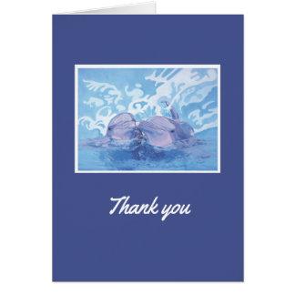 Thank-You van de dolfijn Kaart