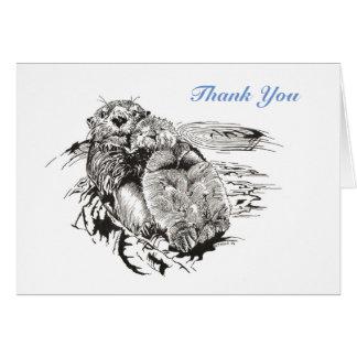 Thank-You van de Otters van het zee Kaart