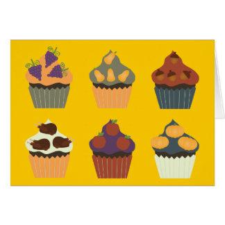 Thanksgiving Cupcakes Kaart