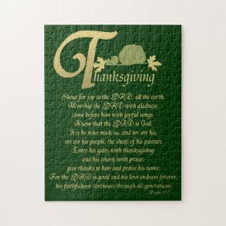 Thanksgiving - Psalm 100 Puzzel
