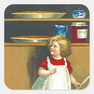 Thanksgiving van de Pastei van de Pasteivulling Vierkante Sticker