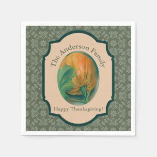 Thanksgiving van de Pastelkleur van de Pompoen en Papieren Servet