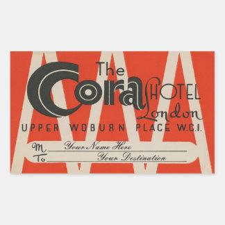 The Cora Hotel (London) Rechthoekige Sticker