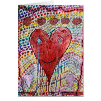 The crying heart briefkaarten 0