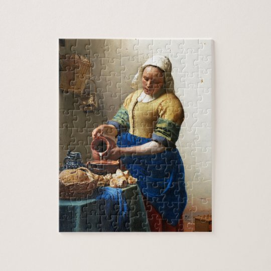 The Milkmaid, Custom gifts. Painting by Vermeer Puzzel