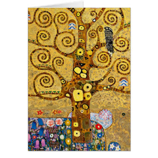 """ The Tree of Life "" , Gustav Klimt Wenskaart"