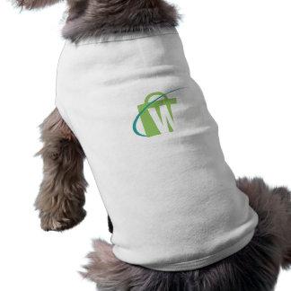 "The Worlds Biggest: Pup Coat White ""W"" Logo Pet T-shirt"