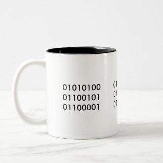 Thee 101 tweekleurige koffiemok