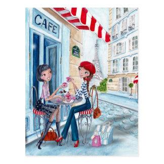 Thee in Parijs - briefkaarten