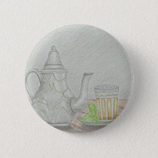 thee met munt ronde button 5,7 cm