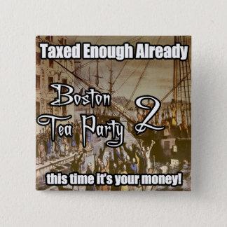Theekransje 2 van Boston Vierkante Button 5,1 Cm