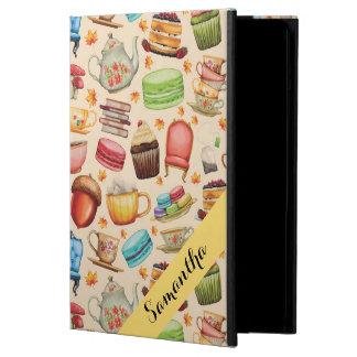 Thema Cupcakes van de Partij van de douane het iPad Air Hoesje