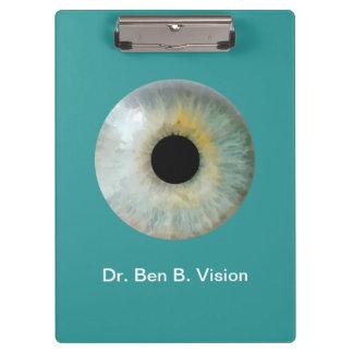 Thema van de optometrist personaliseerde AcrylKlem Klembord