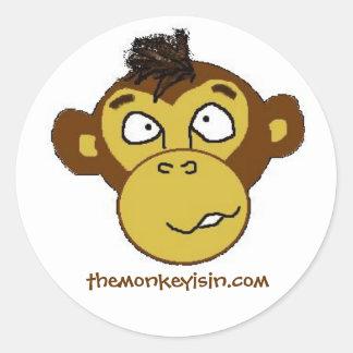themonkeyisin.com Sticker
