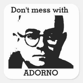 Theodor Adorno Vierkante Sticker