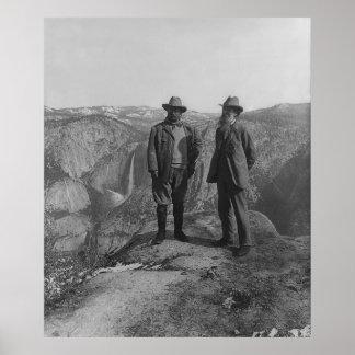 Theodore Roosevelt en John Muir op het Punt van de Poster