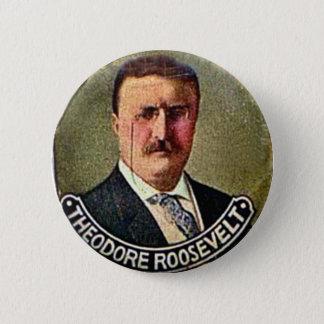 Theodore Roosevelt - Knoop Ronde Button 5,7 Cm