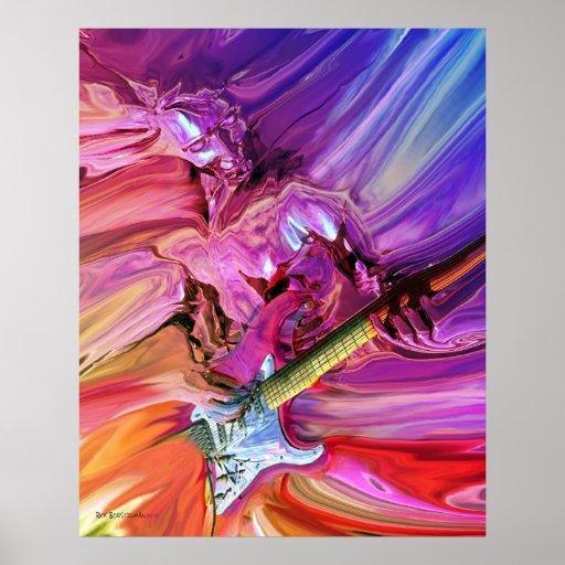 Theorie 4 van de gitaar poster