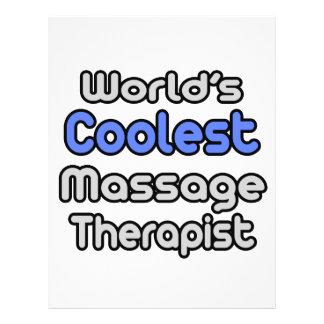 Therapeut van de Massage van de wereld de Koelste Folders