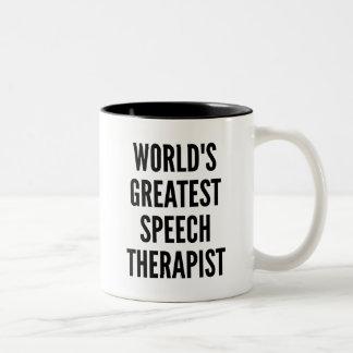 Therapeut van de Toespraak van werelden de Tweekleurige Koffiemok