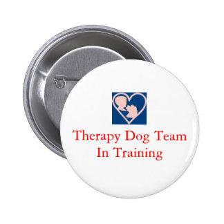 therapy_dog_insignia, het Team van de Hond van de  Ronde Button 5,7 Cm