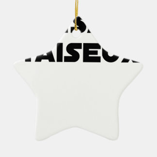 THÉSARD TAISEUX - Woordspelingen - François Stad Keramisch Ster Ornament